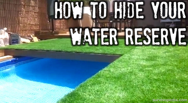 How to hide your water reserve the prepper dome for Garden pool doomsday preppers