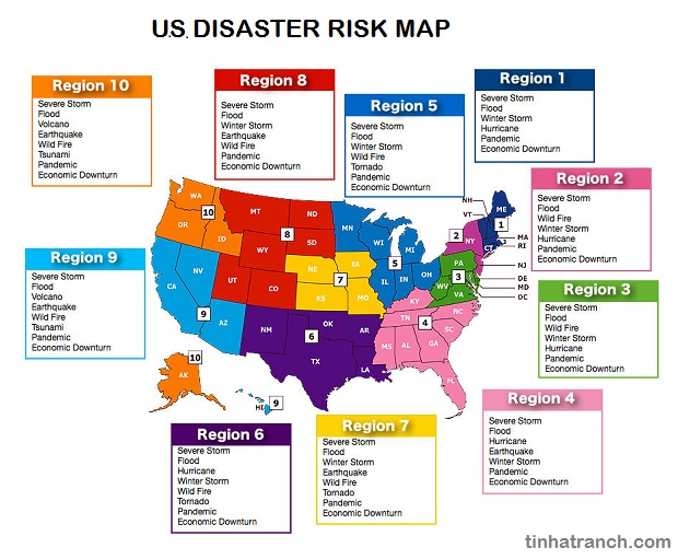 Risk EMscholar - Fema region map