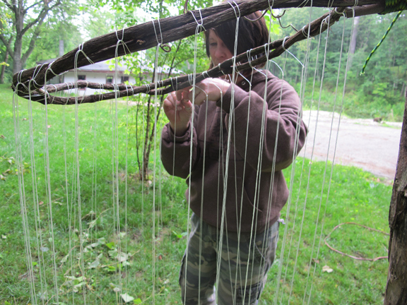 how to make a cargo net from paracord