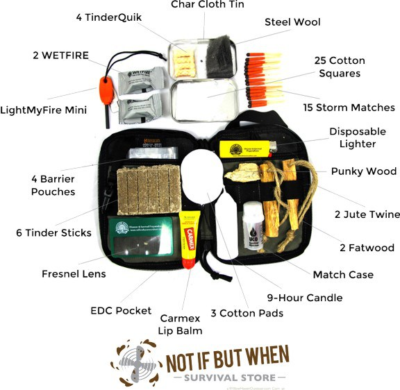 Build A Guaranteed Fire Kit The Prepper Dome