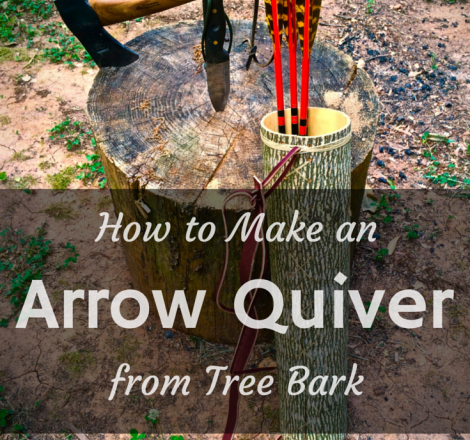 How To Make An Arrow Quiver From Tree Bark The Prepper Dome
