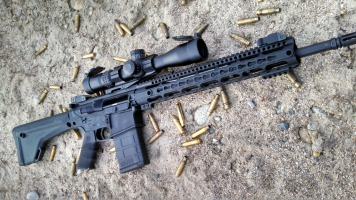 SHTF_Survival_Cache_SHTFblog_Windham_Weaponry_308_AR10_R18FSFSM-308_outdoors_sandpit_Burris_XTRII_PEPR_mount_rifle