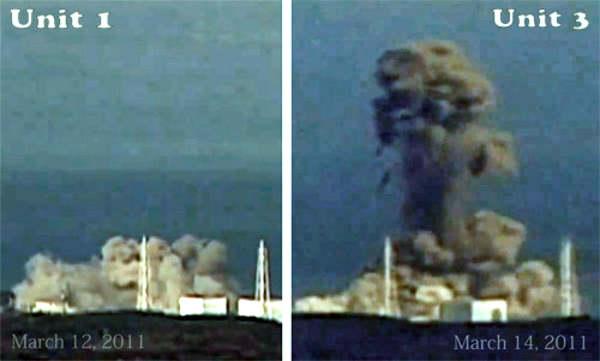FukushimaExplosions1and3_large