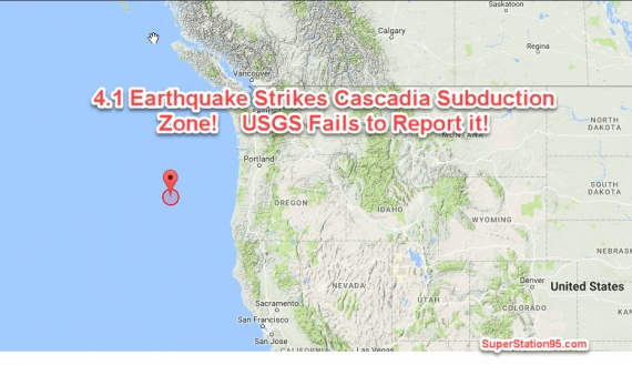 BREAKING:Magnitude 4.1 Earthquake Strikes Cascadia Subduction Zone! USGS Fails to Report; Leaves Oregon Citizens Unaware