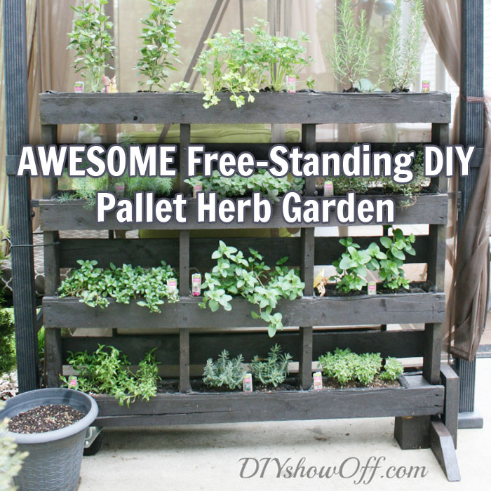 Awesome Free Standing Diy Pallet Herb Garden The Prepper